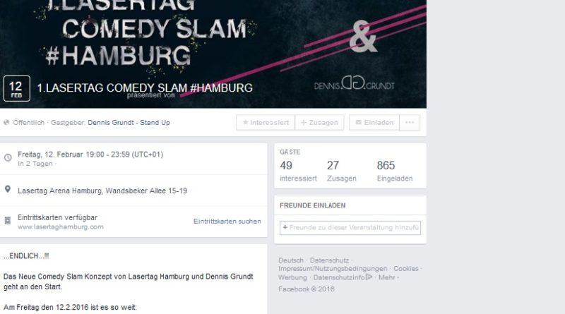 12. Februar 2016: 1. LaserTag Comedy Slam #Hamburg