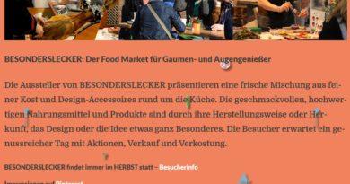 08. + 09.10.2016: besondersschön Food-Markt