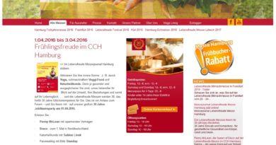01.- 03.04.2016: Lebensfreude Messe im CCH