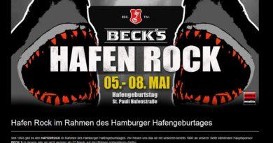 5.-8.05.2016: Hafen Rock zum Hafengeburtstag Hamburg