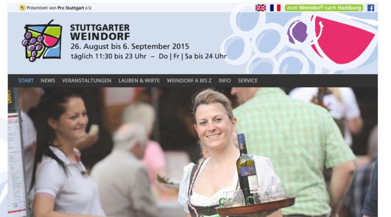Stuttgarter Weindorf auf dem Rathausmarkt