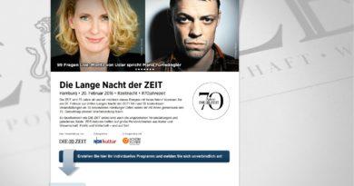 20.02.2016 Die Lange Nacht der ZEIT