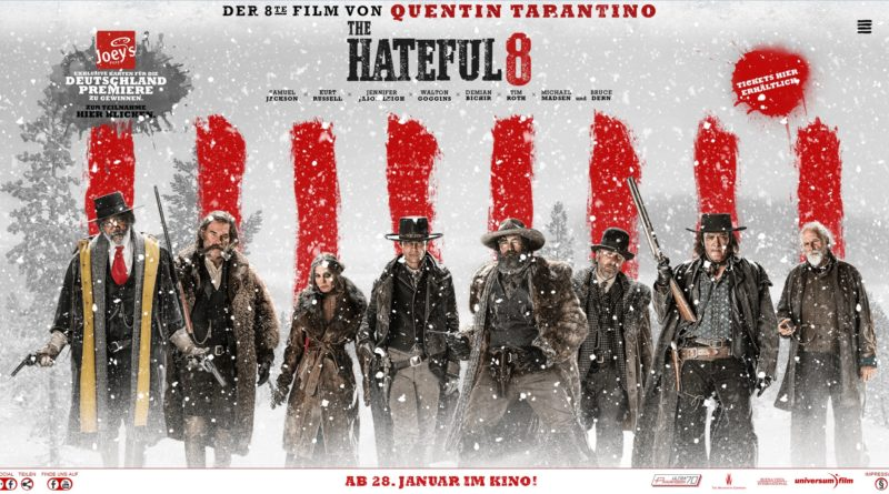 The Hateful 8: Ab 28.01.2016 im Kino