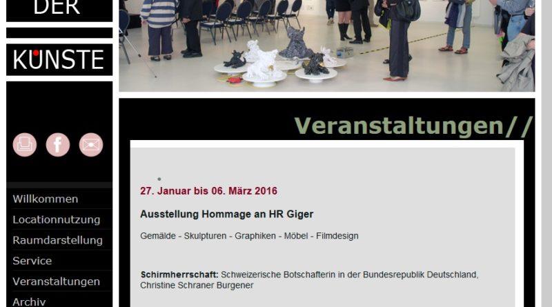 Ausstellung Hommage an HR Giger: Noch bis 6. März 2016