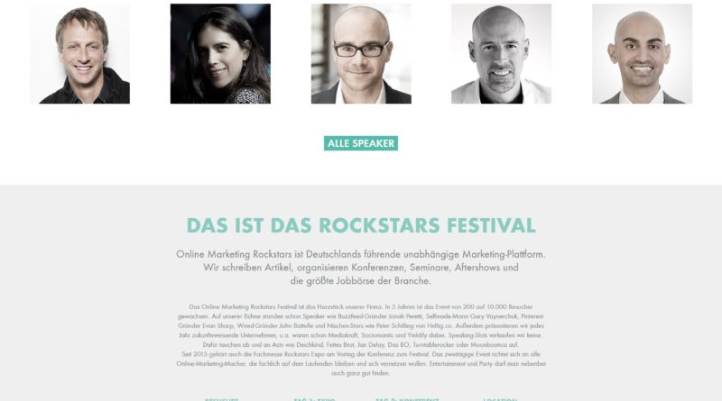 25. und 26. Februar 2016 Online-Marketing Rockstars Festival