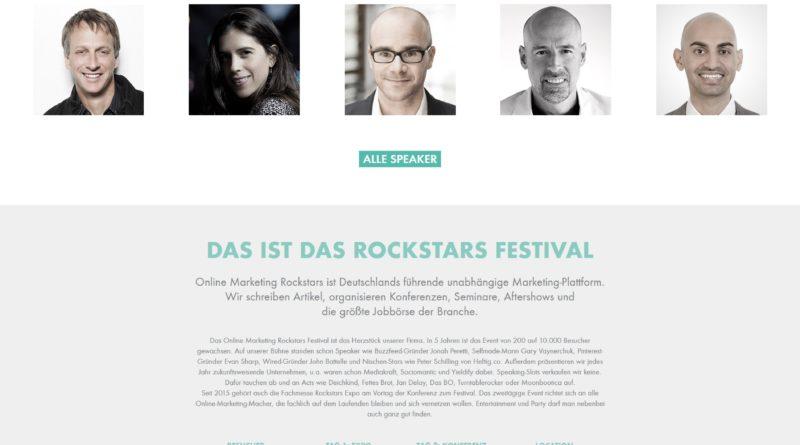 25. und 26. Februar 2016 Online-Marketing Rockstars Festival