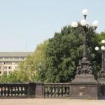 Historische Brücke zwischen Binnen- und Außenalster