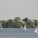 Segelschiffe auf der Außenalster