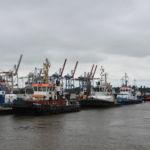 Mehrere Schlepper am Hafen
