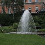 Es gibt viele Springbrunnen in Planten un Blomen