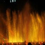 Die Wasserlichtspiele am Abend