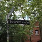 Straßenschild Schanzenstraße