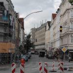Blick auf die Straße Schulterblatt